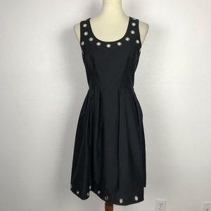 Calvin Klein Fit Flare Grommet Dress